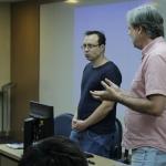 Palestra dos Professores Rubens Penha Cysne, Lucas Maestri e Humberto Moreira para os alunos da graduação sobre as possibilidades de pós-graduação na EPGE - 04/06/2019