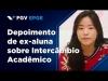 Embedded thumbnail for Depoimento da ex-aluna de Graduação da EPGE Sofia Imagawa sobre o Intercâmbio Acadêmico
