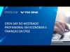 Embedded thumbnail for Webinar | Open Day do Mestrado Profissional em Economia e Finanças da EPGE