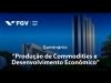 Embedded thumbnail for Produção de Commodities e Desenvolvimento Econômico - Abertura Régis Bonelli (FGV/IBRE)