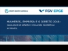 Embedded thumbnail for Seminário EPGE/Banco Mundial sobre Igualdade de Gênero(Mesa de Abertura e Apresentação do Relatório)